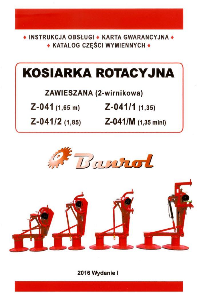 Instrukcja obsługi kosiarek rotacyjnych Banrol